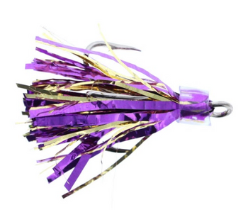 Salmon Candy Coho Flies 2 Pack Purple Gold 2 Inch