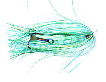 Salmon Candy Flies Single Green Willy 4 inch