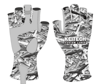 Keitech Fishing Glove - Sun Protection  LOGO S/M