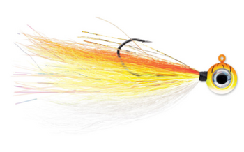 VMC Moon Tail Jig 1/8 oz Orange Fire UV