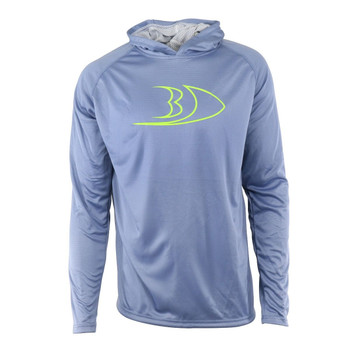 Blackfish CoolTech UPF Guide Sun Hoodie Profile Infinity Blue/Acid Small