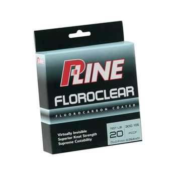 P-Line Floroclear Fluorocarbon Coated Line Clear 300yds 6 lb