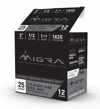 "Migra 12ga 3"" 1.25oz #2/3 Steel Stack Load 25rd"
