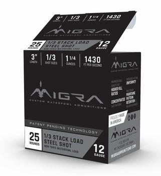 "Migra 12ga 3"" 1.25oz #2/BB Steel Stack Load 25rd"