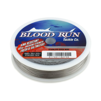 Blood Run 30lb Stainless Steel Trolling Wire Bright 1000'