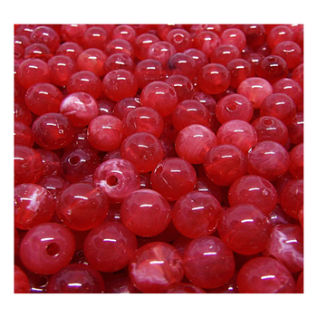 Mr. Derks Tackle Milking Roe (Acrylic) Beads Coho Red 8 mm