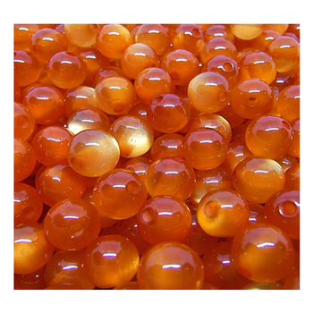 Mr. Derks Tackle Flash Roe (Acrylic) Beads Natural 10 mm