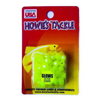 Howie's Tackle Beads #6 Glow Yellow 50 Pack