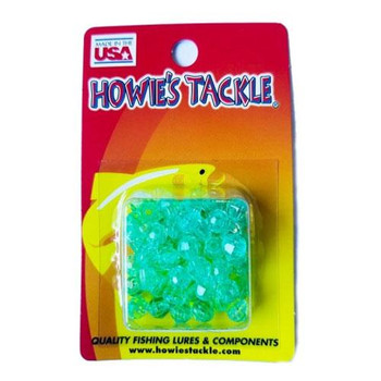 Howie's Tackle Beads #6 Aqua 50 Pack