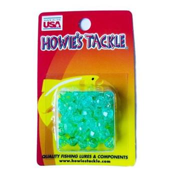 Howie's Tackle Beads #6 Aqua 50 Pack
