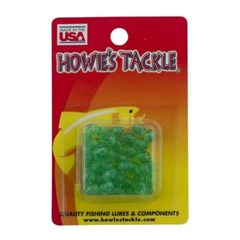 Howie's Tackle Beads #6 Green Facetted 50 Pack