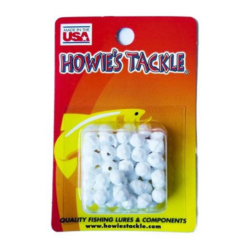 Howie's Tackle Beads #6 White 50 Pack