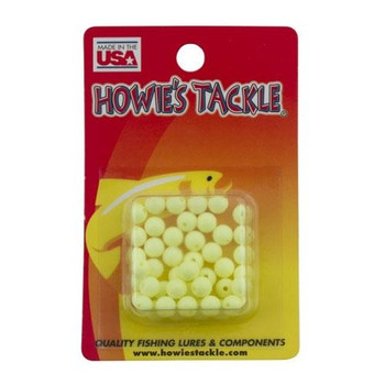 Howie's Tackle Beads #6 Chartreuse 50 Pack