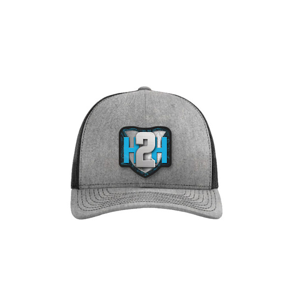 Pre-Order Only - H2H Patch Caps Heather Grey/Black OSFA