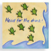 """Sea Turtle """"Head for the Drink"""" Cocktail Napkins - 15-103"""