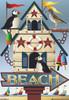 Beach Puffin Bird House Size Flag - JFL108L