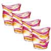 Acrylic Tumbler Pink Orange Wave - Set of 4