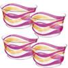 Acrylic Bowl, Pink/Orange wave - Set of 4 - 3BA66005