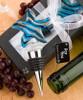 Blue Starfish Glass Swirl Bottle Stopper Q-6103