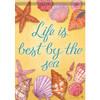 "Life by the Sea - Sea Shell Themed Garden Flag - 12.5""x 18"" - 46935"