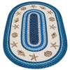 "Blue Sea Shells Oval Patch Rug 20""x30"" by Earth Rugs"