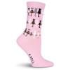 """Cat Socks """"Cat Tails"""" - Pink - KBWF15H065-01"""