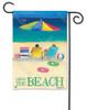 LOVE THE BEACH GARDEN FLAG