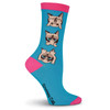 Women's Grumpy Cat Hear, Speak, See No Grumpy Crew Socks