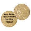 Dogs Leave Paw Prints Memory Gold-tone Token Coin 49865