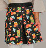 "Apron ""Tropical Cocktails"" Pleated Fabric Hostess Style - 73617"