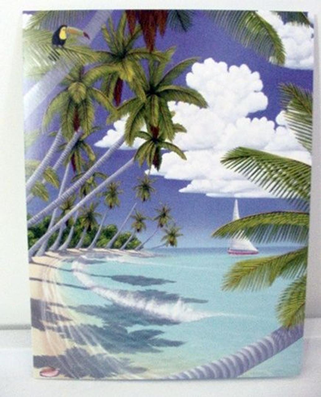 "Beach Birthday Card /""Tropical Paradise/"" BDG13189"