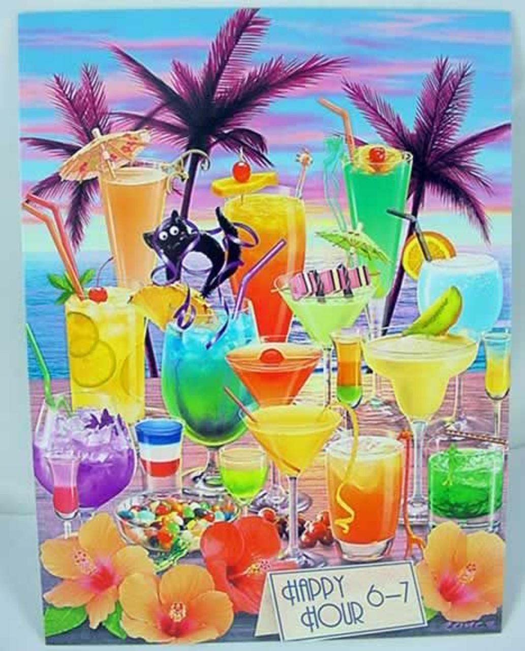 Tropical Drinks Birthday Card