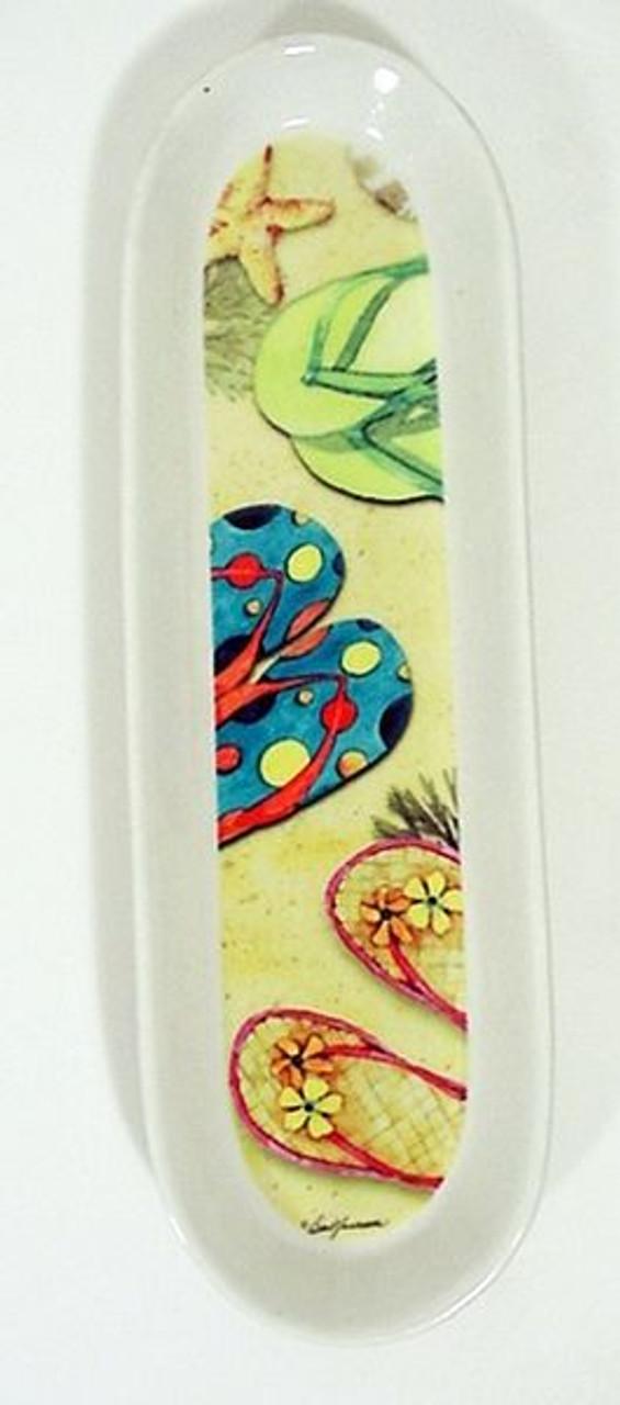 Ceramic Flip Flop Spoon Rest