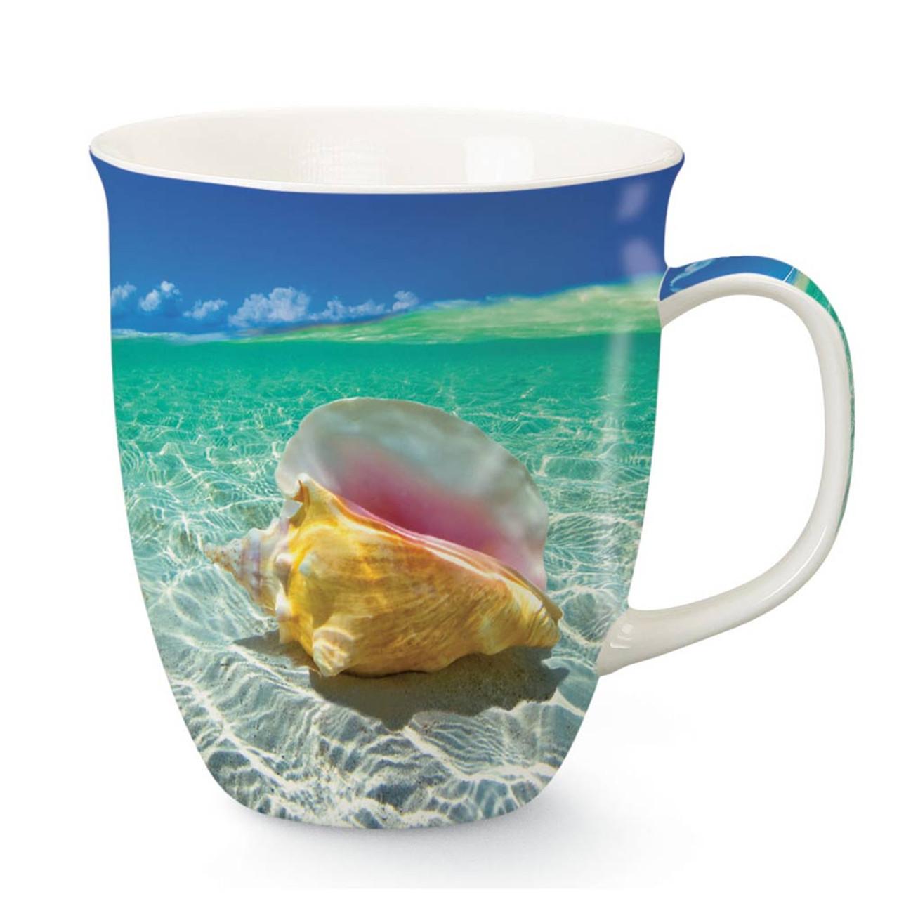 Blue Beach Collage Coffee Mug Beach Theme Coffee Mug