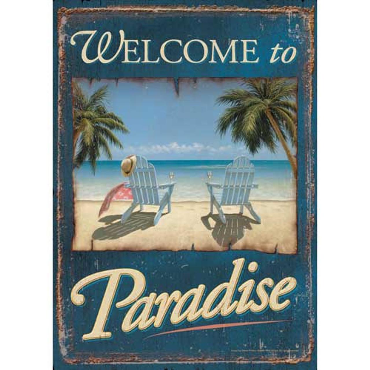 Welcome To Paradise Garden Flag 119182
