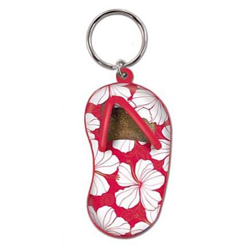 Hibiscus Red Flip Flop Keychain 08877000