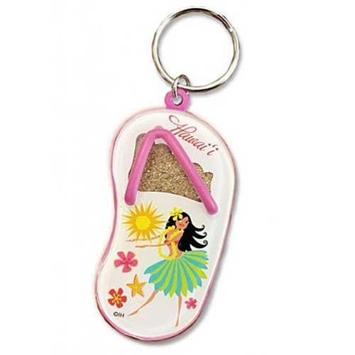 Hula Maiden Sand Slipper Keychain 08888000