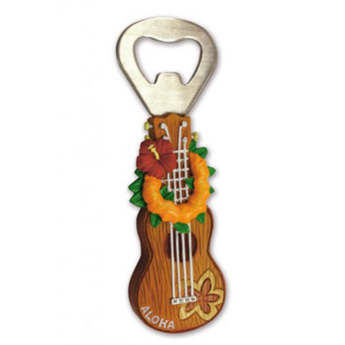 Ukulele Lei Aloha Magnetic Bottle Opener 10719000