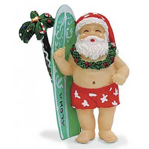 Surfboard Santa Ornament 13055000