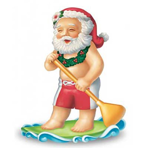 Christmas Ornament Santa Paddling 13066000