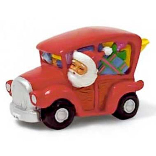 Christmas Ornament Santa in a Surf Woodie - 13281000