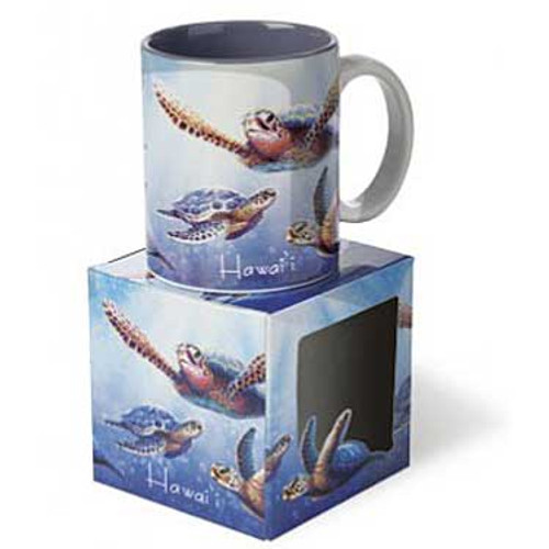 Sea Turtle Ceramic Mug in Gift Box Blue 13340000