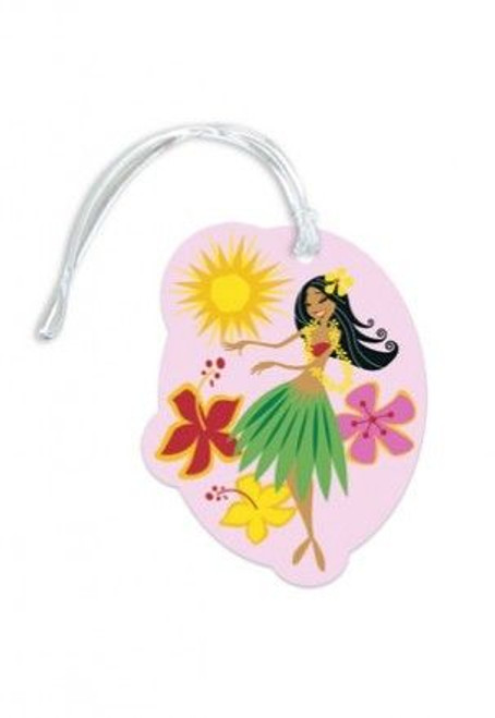 Lovely Hula Hands Die Cut Luggage Tag - 13495000