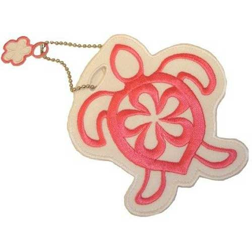 Sea Turtle Theme Embroidered Luggage / ID Tag Pink - 13573000