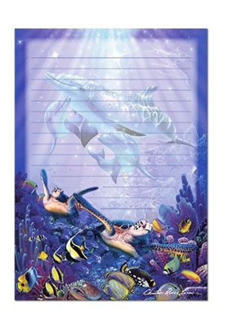 Dolphin and Sea Turtle Lined Note Pad - 27060000