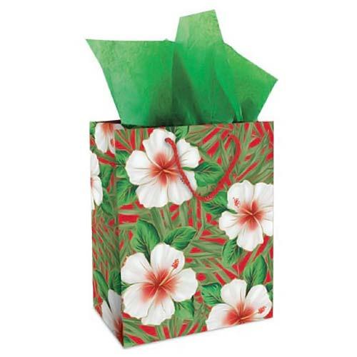 White Hibiscus Gift Bag Medium 30042002