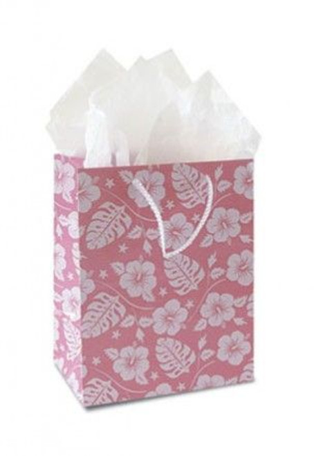 Pink Hibiscus Swirl Gift Bag Small - 30047001