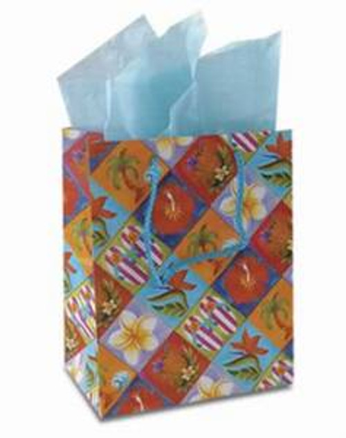 Tropical Aloha Icons Gift Bag Medium - 30086002