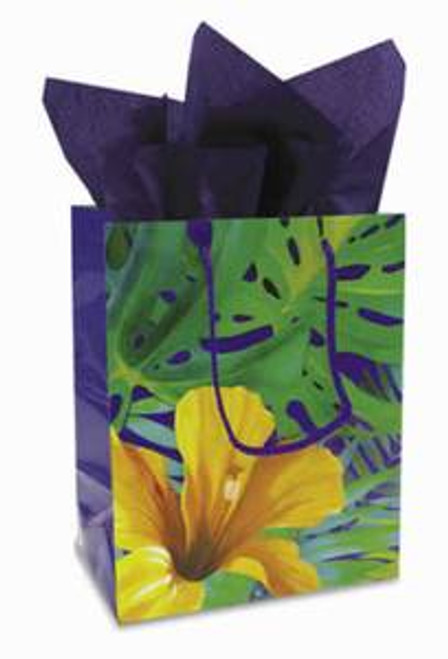 "Tropical Flower Gift Bag ""Hibiscus"" Medium - 30095002"