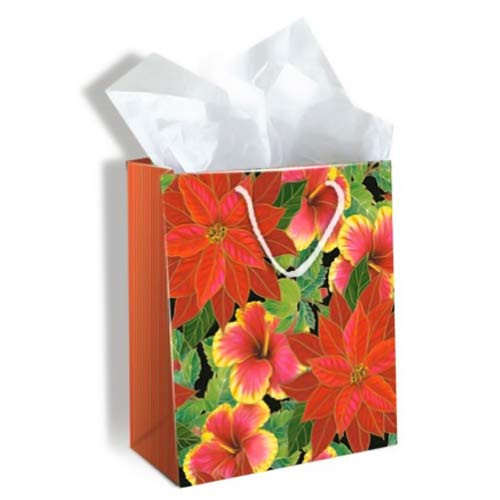 Festive Hibiscus Gift Bag Medium 30161002